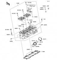 Cylinder Head Ninja ZX-6R 2012(ZX600RCF) - Kawasaki純正部品