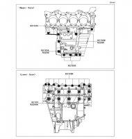 Crankcase Bolt Pattern Ninja ZX-6R ABS 2013(ZX656FDF) - Kawasaki純正部品