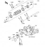 Gear Change Drum/Shift Fork(s) Ninja ZX-6R ABS 2013(ZX656FDF) - Kawasaki純正部品