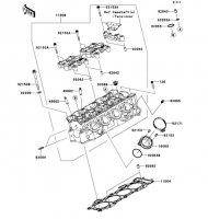 Cylinder Head Ninja ZX-6R ABS 2013(ZX656FDF) - Kawasaki純正部品
