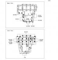 Crankcase Bolt Pattern Nina ZX-6RR 2005(ZX600-N1H) - Kawasaki純正部品