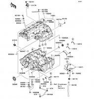 Crankcase Nina ZX-6RR 2005(ZX600-N1H) - Kawasaki純正部品