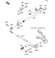 Gear Change Mechanism Nina ZX-6RR 2005(ZX600-N1H) - Kawasaki純正部品