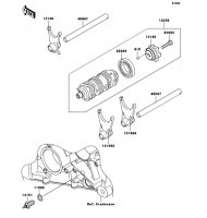 Gear Change Drum/Shift Fork(s) Nina ZX-6RR 2005(ZX600-N1H) - Kawasaki純正部品