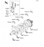 Crankshaft Nina ZX-6RR 2005(ZX600-N1H) - Kawasaki純正部品