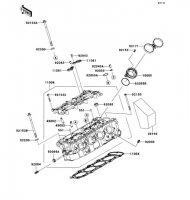 Cylinder Head Nina ZX-6RR 2005(ZX600-N1H) - Kawasaki純正部品
