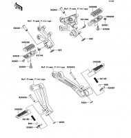 Footrests Ninja ZX-12R 2006(ZX1200B6F) - Kawasaki純正部品