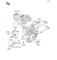Engine Mount Ninja ZX-12R 2006(ZX1200B6F) - Kawasaki純正部品