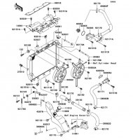 Radiator Ninja ZX-12R 2006(ZX1200B6F) - Kawasaki純正部品