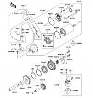 Starter Motor Ninja ZX-12R 2006(ZX1200B6F) - Kawasaki純正部品