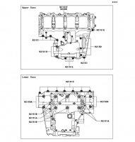 Crankcase Bolt Pattern Ninja ZX-12R 2006(ZX1200B6F) - Kawasaki純正部品