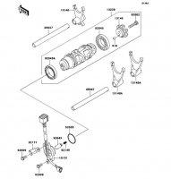 Gear Change Drum/Shift Fork(s) Ninja ZX-12R 2006(ZX1200B6F) - Kawasaki純正部品