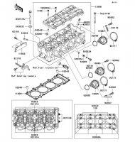 Cylinder Head Ninja ZX-12R 2006(ZX1200B6F) - Kawasaki純正部品
