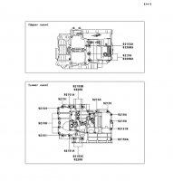 Crankcase Bolt Pattern VERSYS 2011(KLE650CBF) - Kawasaki純正部品