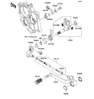 Gear Change Mechanism VERSYS 2011(KLE650CBF) - Kawasaki純正部品
