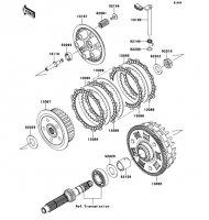 Clutch VERSYS 2011(KLE650CBF) - Kawasaki純正部品