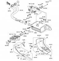 Muffler(s) VERSYS 2011(KLE650CBF) - Kawasaki純正部品