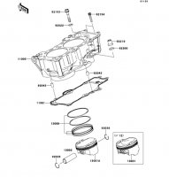 Cylinder/Piston(s) VERSYS 2011(KLE650CBF) - Kawasaki純正部品