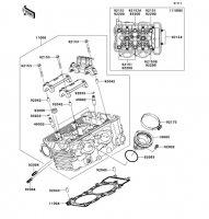 Cylinder Head VERSYS 2011(KLE650CBF) - Kawasaki純正部品