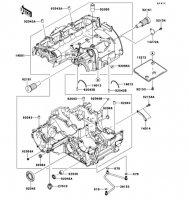 Crankcase VERSYS 1000 2012(KLZ1000ACF) - Kawasaki純正部品