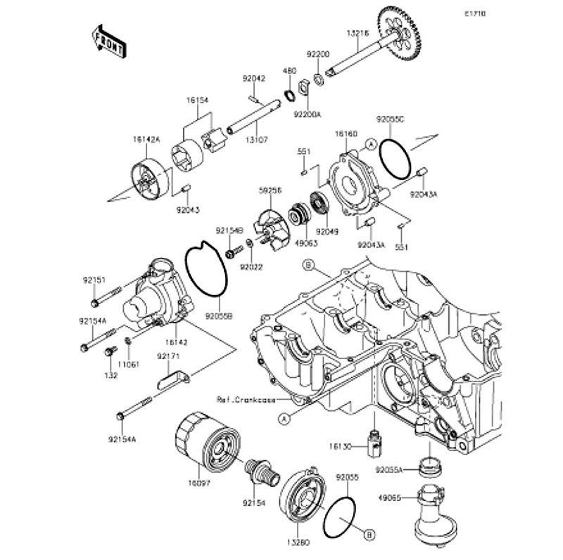 Motorcycle Parts Parts Accessories Washer 6 1x12x1 Kawasaki 92022 077