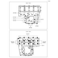 Crankcase Bolt Pattern Z800 2015(ZR800AFF) - Kawasaki純正部品
