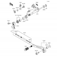 Gear Change Mechanism Z800 2015(ZR800AFF) - Kawasaki純正部品