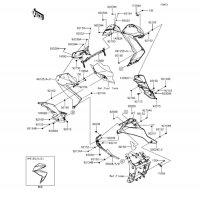 カウリングロアー Z250 2013(ER250CDF) - Kawasaki純正部品