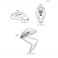 デカール(ホワイト)(CDF) Z250 2013(ER250CDF) - Kawasaki純正部品