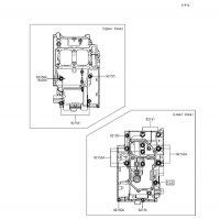 クランクケースボルトパターン Z250 2013(ER250CDF) - Kawasaki純正部品