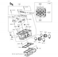 シリンダヘッド Z250 2013(ER250CDF) - Kawasaki純正部品