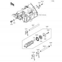 ギヤチェンジドラム/シフトフォーク(CDS/CEF) Z250 2013(ER250CDS) - Kawasaki純正部品
