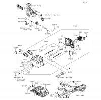 エアクリーナ Z250 2013(ER250CDS) - Kawasaki純正部品