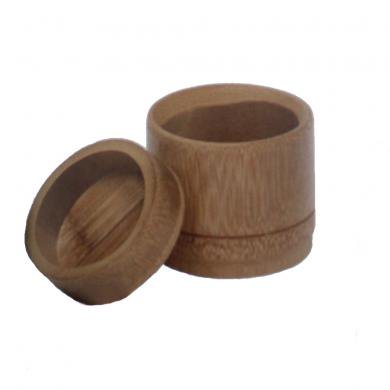 竹製品 ススそばチョコ薬味皿付 32-1