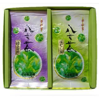 八女茶「特上白折・深むし茶セット」200g