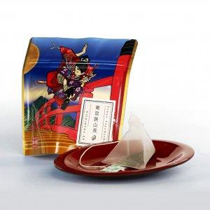 江戸緑茶ティーバッグ牛若丸柄