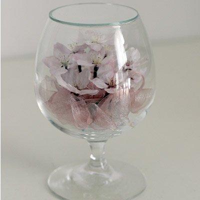 桜の花のボトルフラワー(グラス2S)