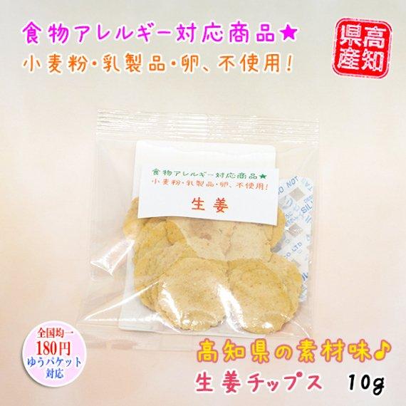 食物アレルギー対応★「生姜チップス」お試し 10g