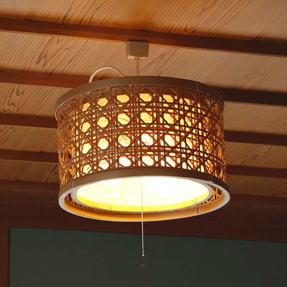 「灯夜 火屋二重」 虎斑竹と手漉き土佐和紙の手作り照明