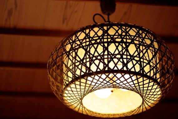 「炎乃華」 虎斑竹と手漉き土佐和紙の手作り照明