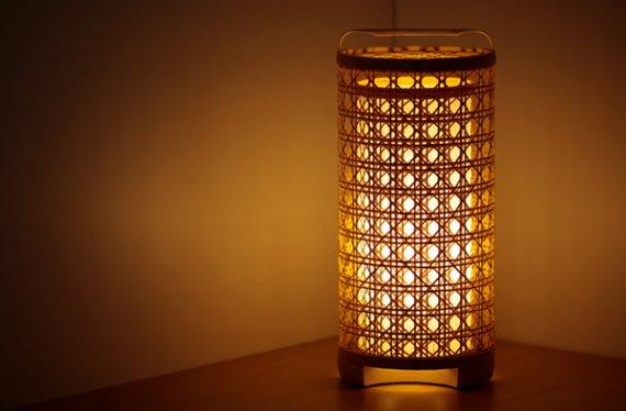 「火屋二重」 虎斑竹と手漉き土佐和紙の手作り照明