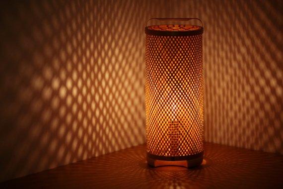 「朧菱」 竹と手漉き土佐和紙の手作り照明