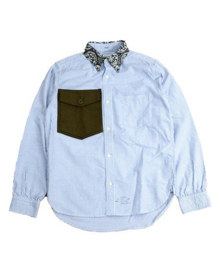 ONE IN THE WORLD/STRIPE PATCH SHIRTS