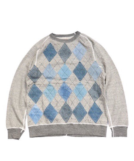 ONE IN THE WORLD/ARGYLE SWEAT