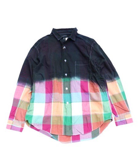ONE IN THE WORLD/GRADATION CHECK SHIRTS