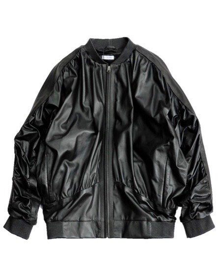 WILLY CHAVARRIA/LEATHER TRACK JACKET
