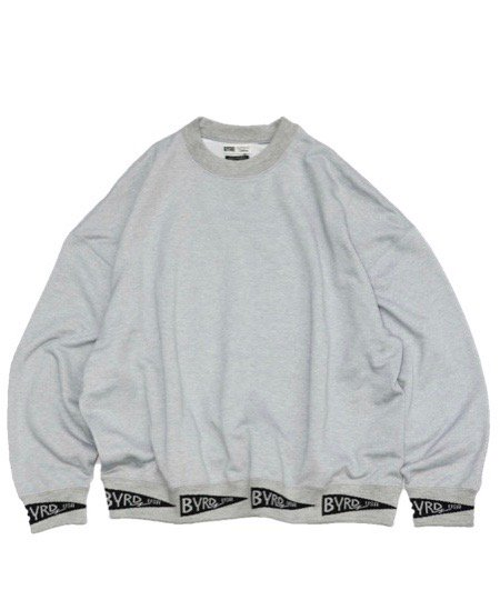 SUNNY SPORTS × BYRD / BYRD RIB CREW-NECK SWEAT