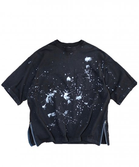 MADE IN STANDARD / SIDE ZIP PAINT SS TEE