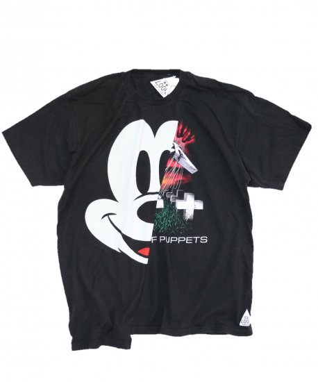 THRIFTY LOOK/TWINS MIX TEE.Mickey Mouse×METALLICA