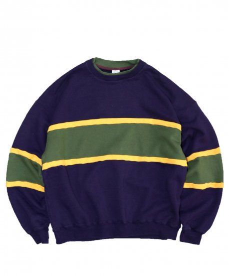 TOWN CRAFT / 3TONE LINE CREW-NECK